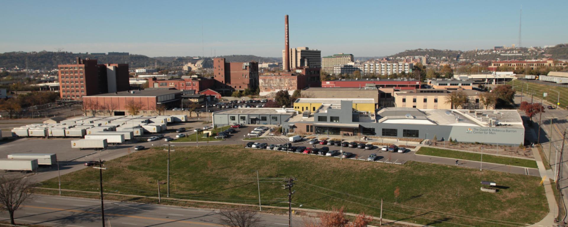 Aerial view of Shelterhouse Center for Men