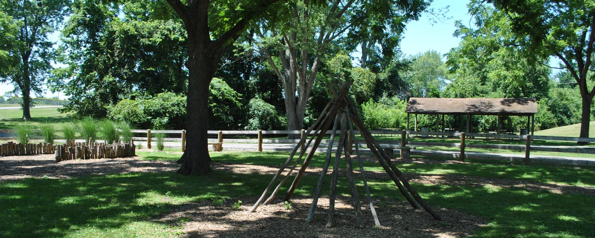 climbing structure at park
