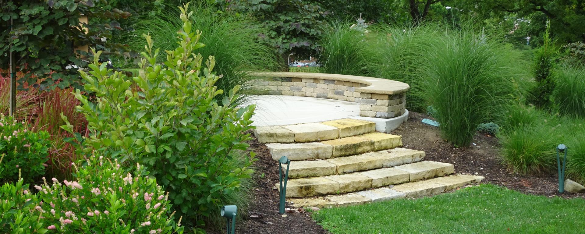 steps in a garden