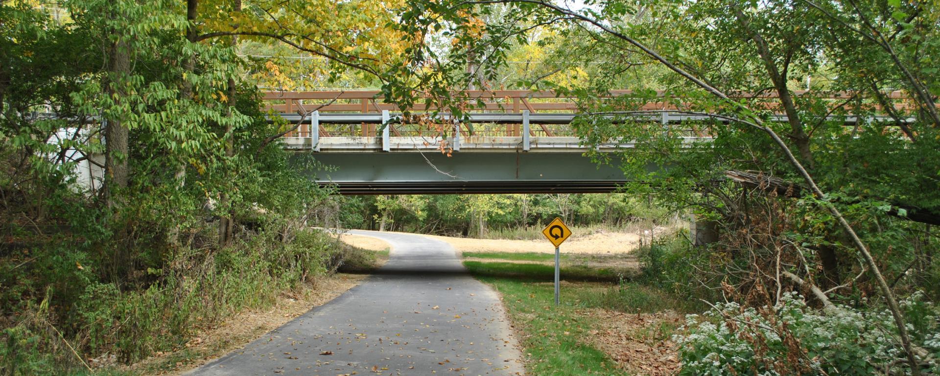 bridge over paved trail